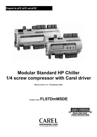 Modular Standard HP Chiller 1/4 screw compressor with