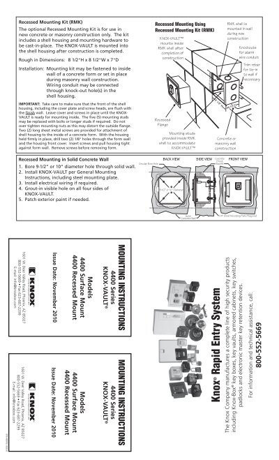 knox box 4400 wiring diagram