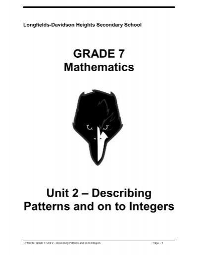 TIPS4RM: Grade 7: