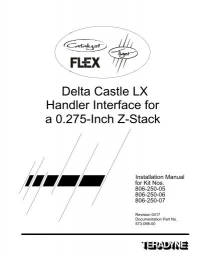 Delta Castle LX Handler Interface for a 0.275-Inch Z-Stack
