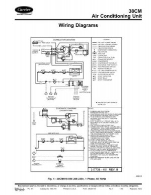 38CM Air Conditioning Unit Wiring Diagrams  Carrier