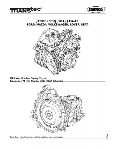 Ford JF506E / Mazda 5F31J/JA5A-EL / Volkswagen 09A