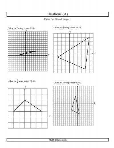 Printables. Dilations Worksheet. Lemonlilyfestival