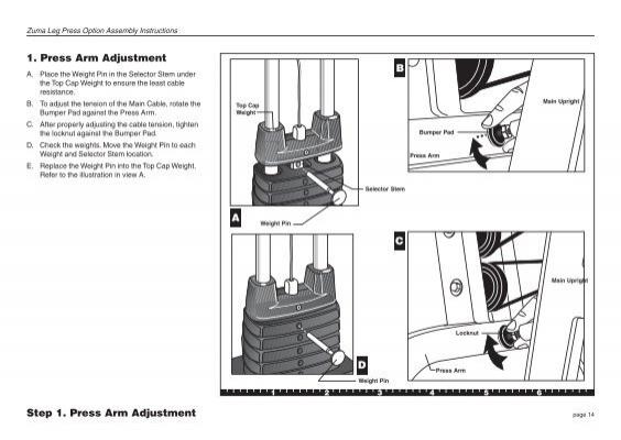 Pacific Fitness Zuma Leg Press Manual