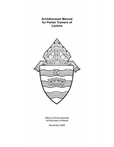 Archdiocesan Manual for Parish Trainers of Lectors