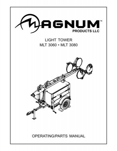 LIGHT TOWER SET UP GROUND