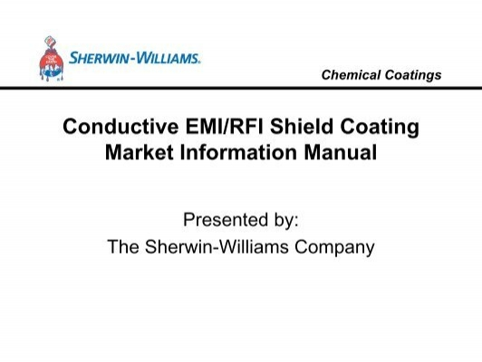 Conductive EMI/RFI Shield Coating Market Information Manual