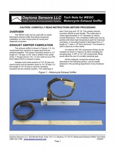 motorcycle exhaust sniffer tech note