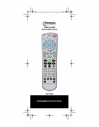 Atlas OCAP 5-Device Universal Remote Control with Learning