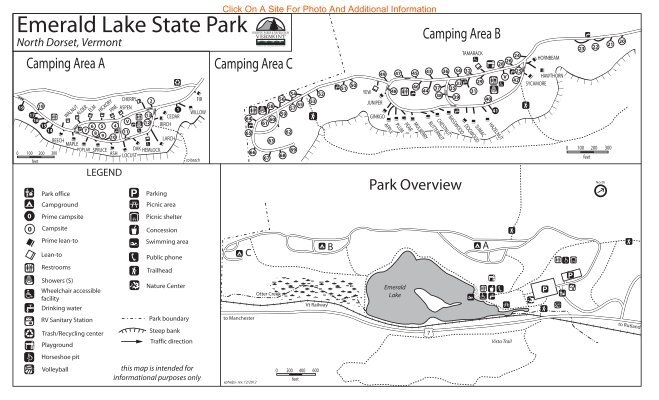 Emerald Lake State Park Interactive Campground Map & Guide