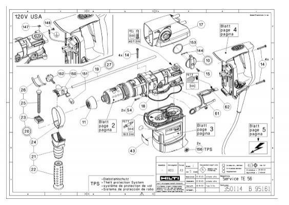 Hilti Hammer Drill Te 72 Parts