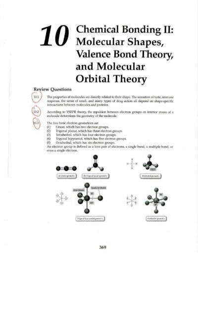 Chemical Bonding II: Molecular Shapes, Valence Bond Theory