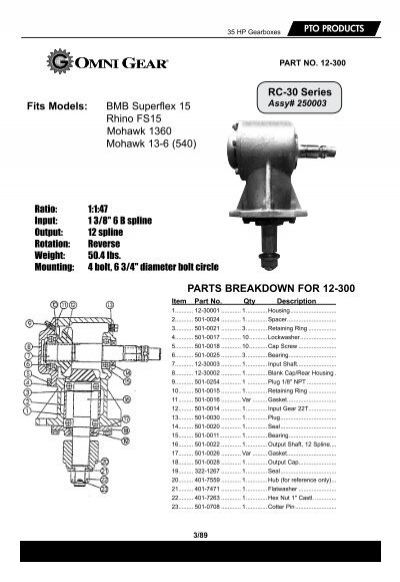 PTO PRODUCTS 35 HP Gearbo