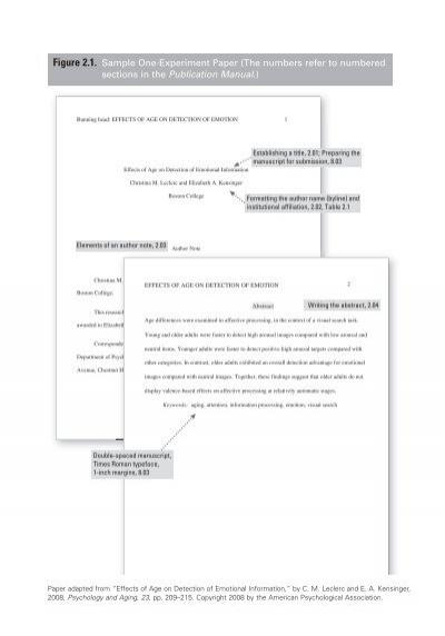 Sample Of An Experimental Paper #1 Trinity Washington University