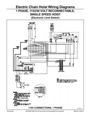 Electric Chain Hoist Wiring Diagrams  Columbus McKinnon