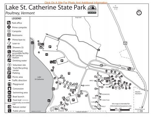 Lake St. Catherine State Park Interactive Campground Map
