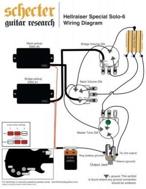HELLRAISER SPECIAL SOLO 6 WIRING DIAGRAM  Schecter Guitars
