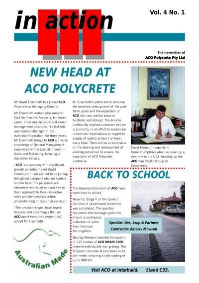 Vol 4 No 1 Aco Polycrete Pty Ltd