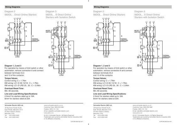 Diagram 2 56DOL... Direct Online Starters Diagram 3 56DOL