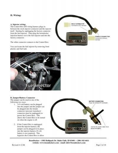 II. Wiring: A. Injector w