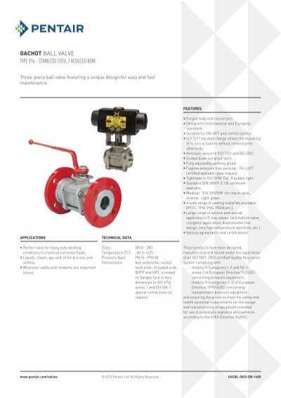 Gachot Ball Valve Type V1