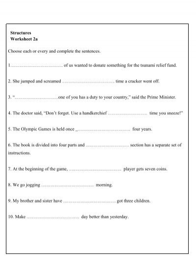 Worksheet