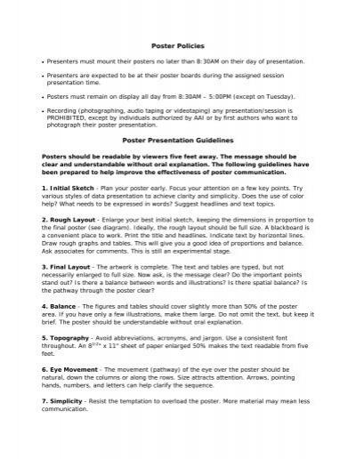 poster presentation guidelines aai