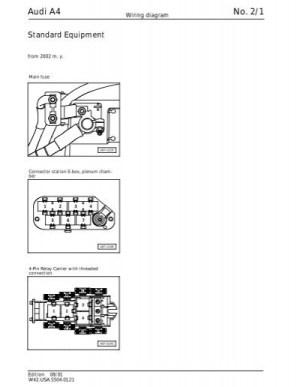Audi A4 No 21 Wiring Diagram  SoCalS4