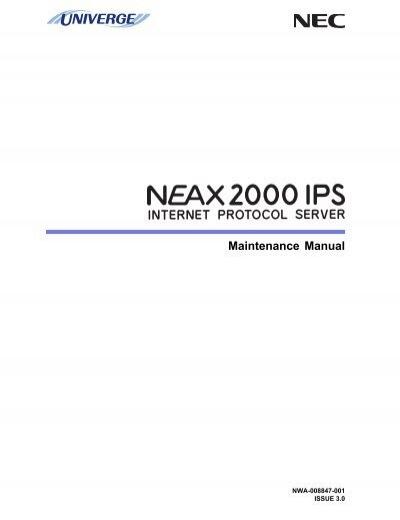 univerge neax2000 ips maintenance manual.pdf