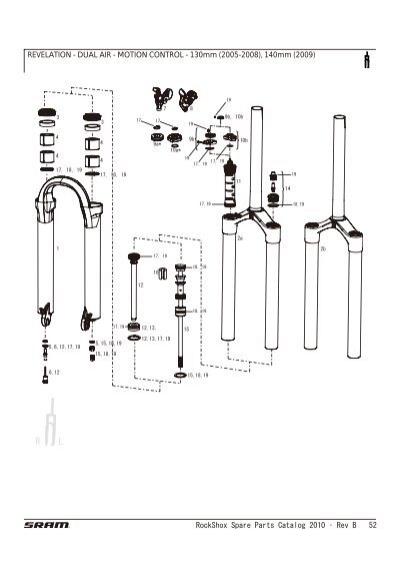 RockShox Spare Parts Catalog 2010 Ì' Rev B 52 REVELATION