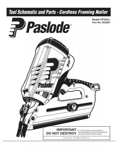 Paslode Angled Finish Nailer Parts Diagram Reviewmotors Co