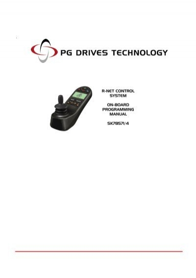 r-net control system on-board programming manual