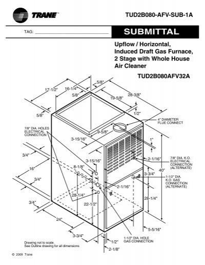 Trane Upflow / Horizontal, Inuced Draft Gas Furnace, 2