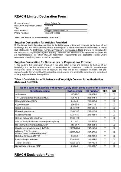 REACH Limited Declaration Formpdf
