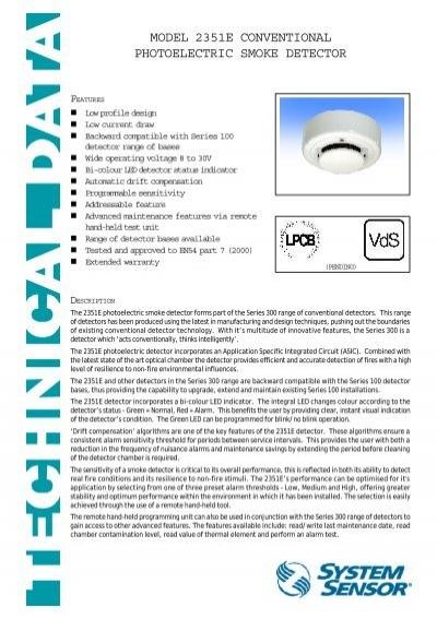 system sensor 2351e smoke detector wiring diagram saab 9 3 wheel bearing diagrams model photoelectric