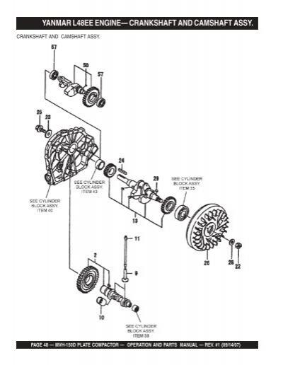 YANMAR L48EE ENGINE— CR