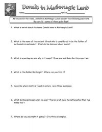 Donald Duck Mathmagic Land Worksheet Free Worksheets