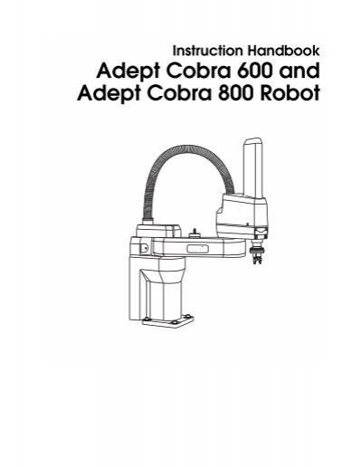Adept Cobra 600/800 Robot Instruction Handbook, Rev. B