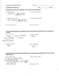 Arithmetic Sequence Worksheet 5th Grade - arithmetic ...
