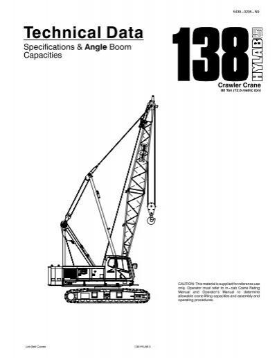 Link Belt 248 Operators Manual