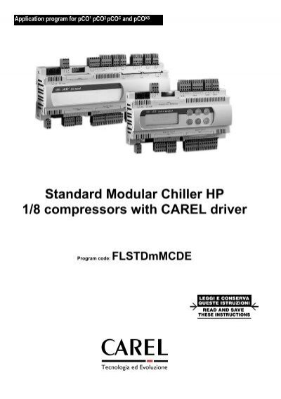 Standard Modular Chiller HP 1/8 compressors with CAREL driver