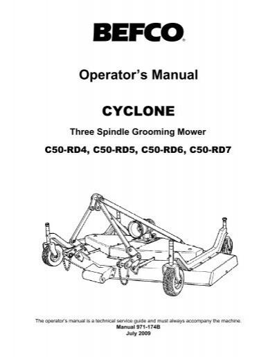 CYCLONE C50OPERATOR'S M
