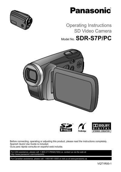 Operating Instructions SD Video Camera