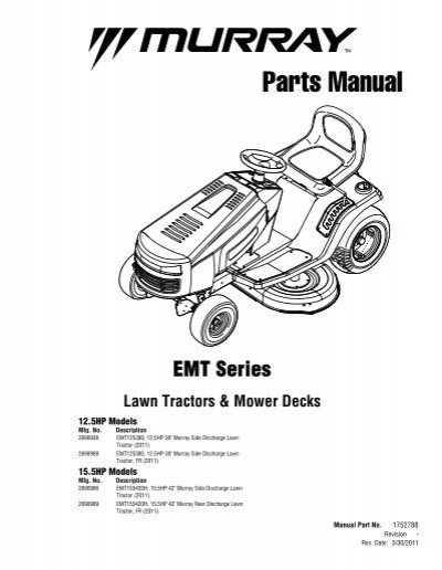 EMT Series Lawn Tractors & Mower Decks