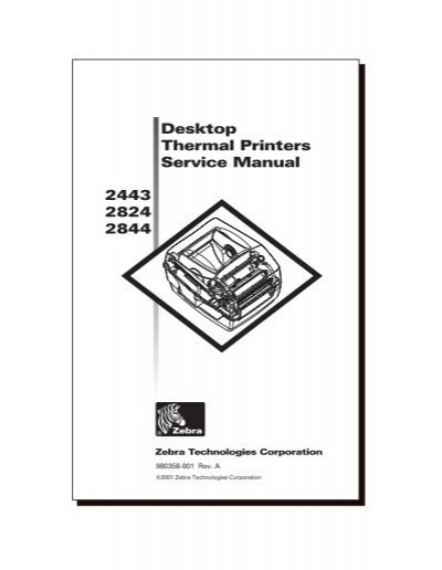2443 2824 2844 Desktop Thermal Printers Service Manual