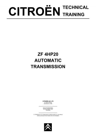technical training zf 4hp20 automatic transmission
