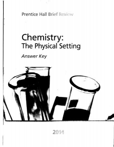Chemistry The Physical Setting Answer Key