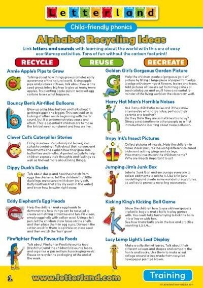 Alphabet Recycling Ideas  Letterland