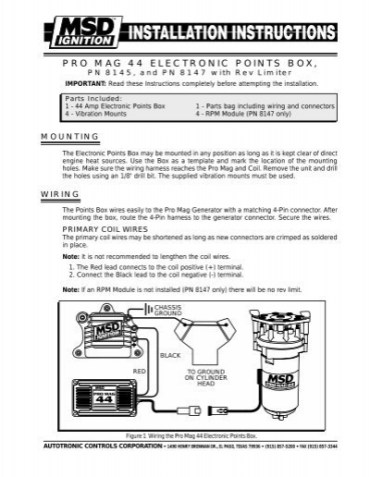 msd ignition wiring diagram wiring diagram how to install an msd 6a digital ignition module on your 1979 1995 msd 6a wiring diagram
