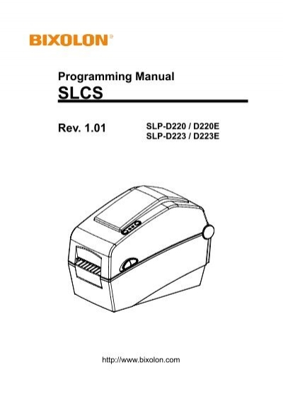 SLCS Programming ManualEx